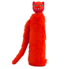 Telescopic Kitty Umbrella with Furry Case - Red
