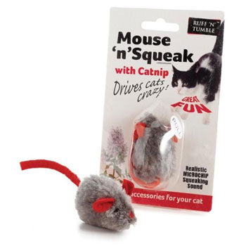 Sharples Squeaky Mouse Catnip Cat Toy