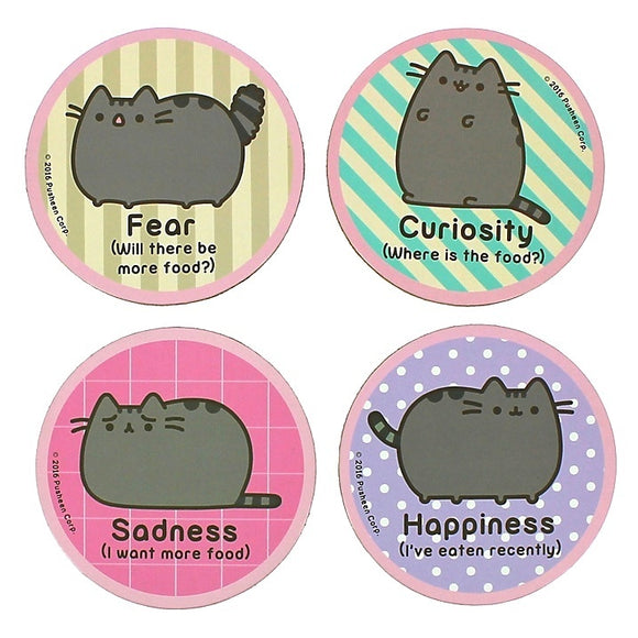 Pusheen Set of 4 Fun and Colourful Coasters