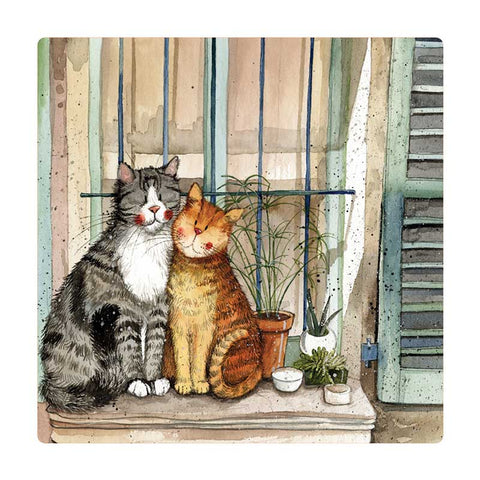 Alex Clark Fridge Magnet - Provence Cats