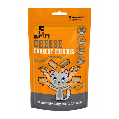 Crunchy Cushions Cat Treats 60g - Cheese