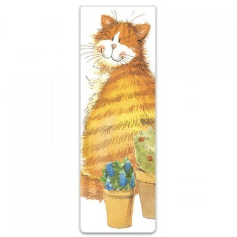 Alex Clark Magnetic Bookmark - Cat & Pots