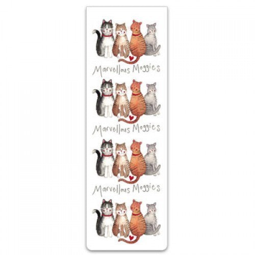 Alex Clark Magnetic Bookmark - Moggies