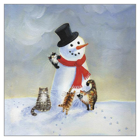 Kim Haskins Cat Christmas Card - Snow Cats (Single)