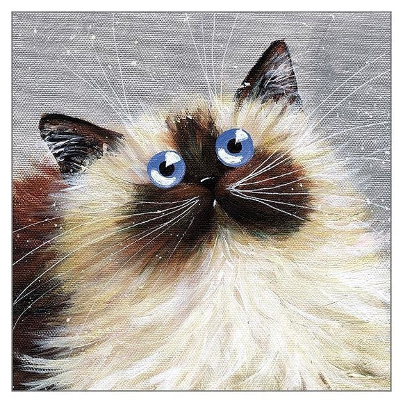 Kim Haskins Blue Eyes Greetings Card