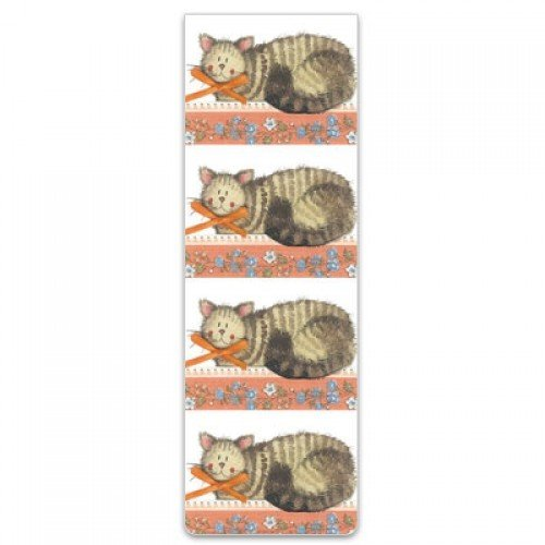 Alex Clark Magnetic Bookmark - Cat and Bow