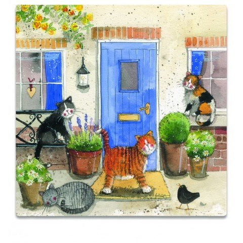 Alex Clark Fridge Magnet - Friendly Felines