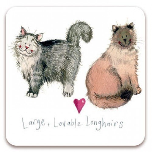 Alex Clark Fridge Magnet - Large Lovable Longhairs