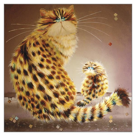 Kim Haskins Cat Greetings Card - Zala and Mau Mau
