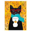 5D Diamond Painting Kit - Time for Coffee Cat, Orange