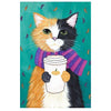 5D Diamond Painting Kit - Time for Coffee Cat, Blue