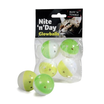 Nite N Day Glowballs Cat Toy Balls
