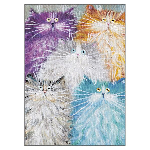 Kim Haskins Cat Greetings Card - Compawdres
