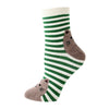 Ladies Cotton Cat Socks - Stripey (6 Colours)