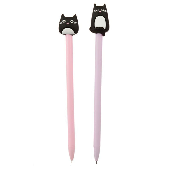 Feline Fine Cat Topper Pen - Pink or Purple