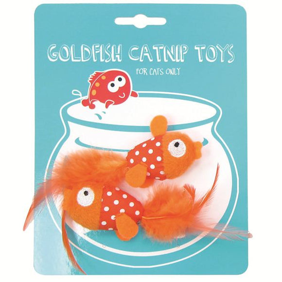 Cute Goldfish Catnip Cat Toys - Pack of 2
