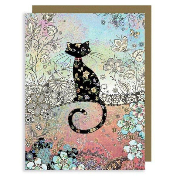 Bug Art Luxury Mini Card - Patterned Cat