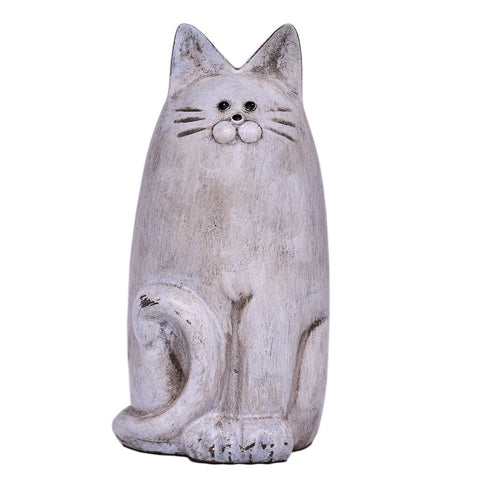Country Art Slim Cat Ornament White