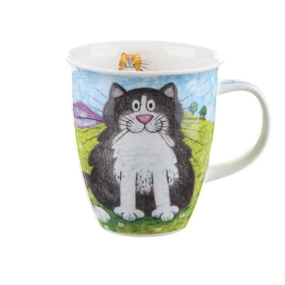 Dunoon Fine Bone China Mug Happy Cats Black & Ginger