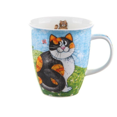 Dunoon Fine Bone China Mug Happy Cats Tortie & Tabby