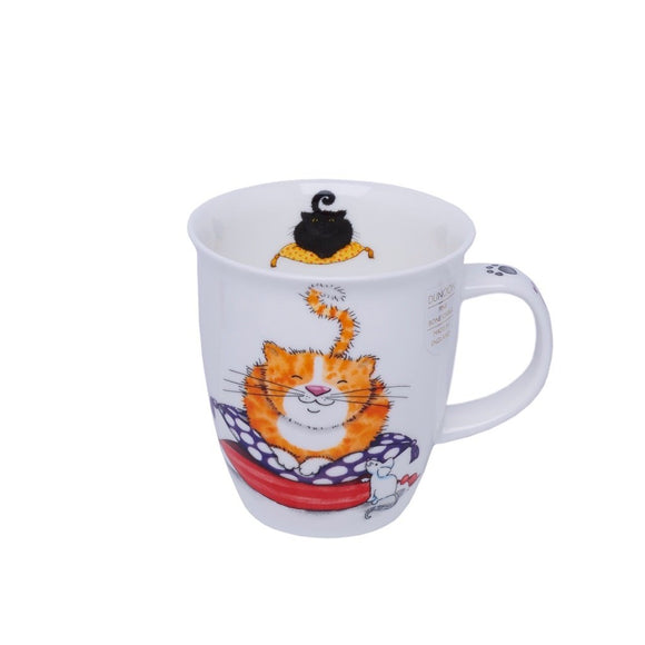Dunoon Fine Bone China Mug Comfy Cats Black / Ginger