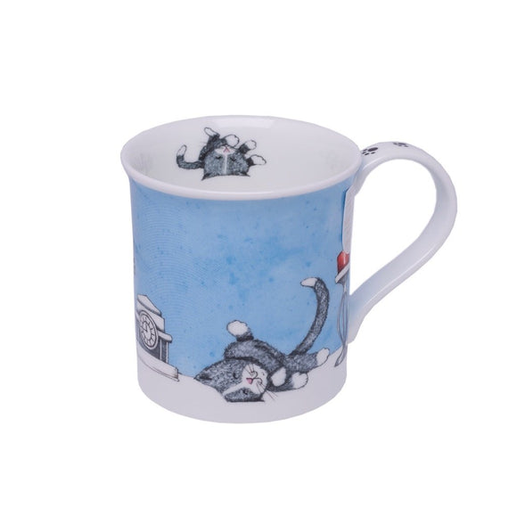 Dunoon Fine Bone China Mug Contented Cats