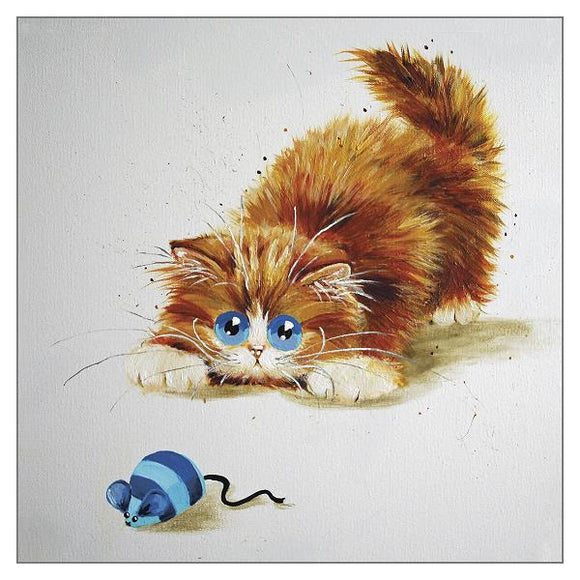 Kim Haskins Spartacus Cat Greetings Card