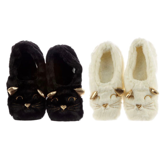 Cat Toesties Heat Pack Slippers (Unisex One Size)