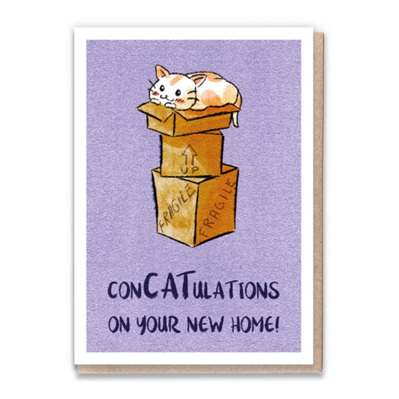 1 Tree Cards Cat Greetings - ConCATulations New Home
