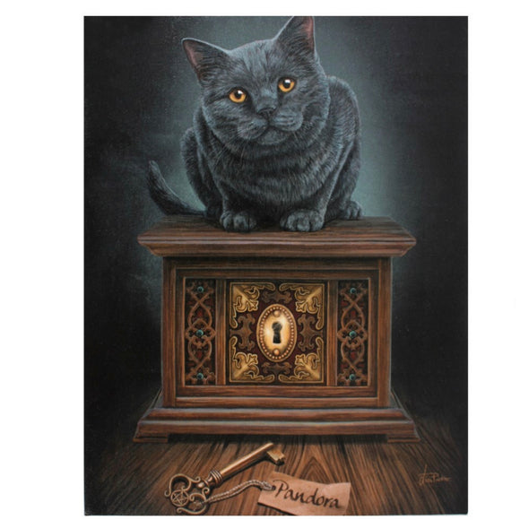 Lisa Parker Pandora's Box Canvas Cat Plaque