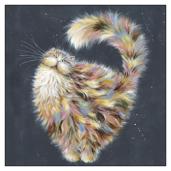 Kim Haskins Cat Greetings Card - Patapoufette