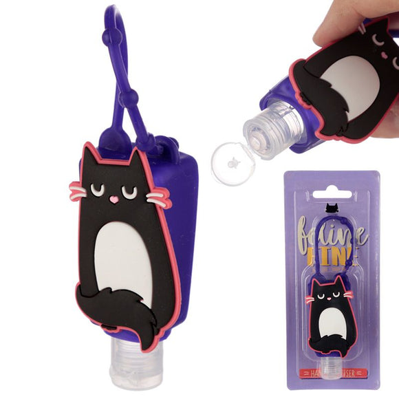 Gel Hand Sanitiser with Feline Fine Cat Silicone Cover