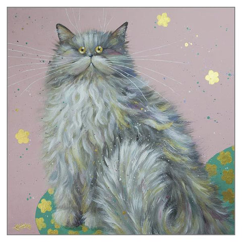 Kim Haskins Cat Greetings Card - Beulah Preciosa