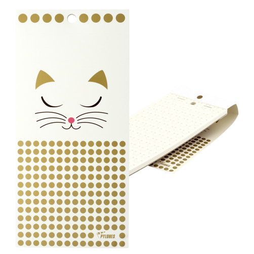 White Cat Magnetic Notebook Memo Block