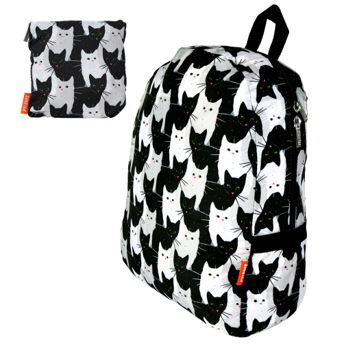Foldable Travel Backpack - Cha Cha Cha Cats