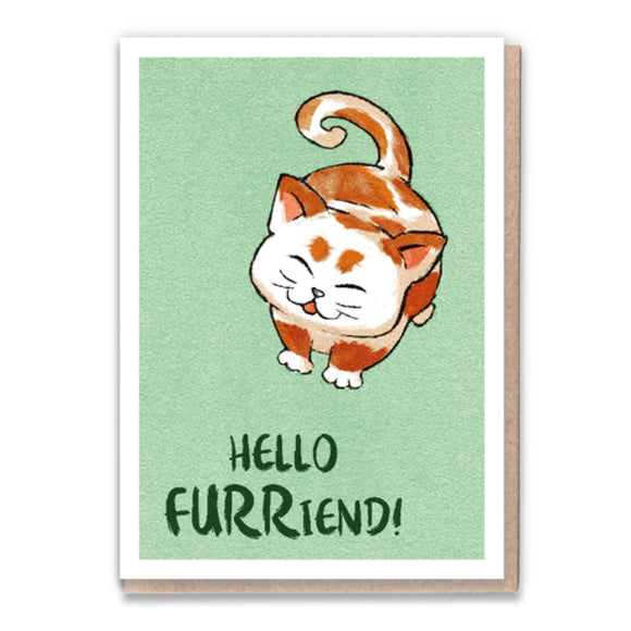 1 Tree Cards Cat Greetings - Hello Furriend!