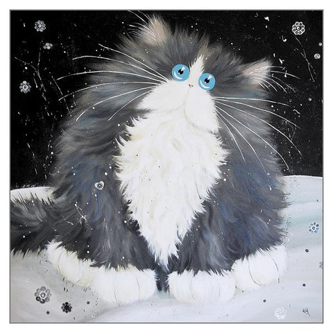 Kim Haskins Cat Greetings Card - Big Blod