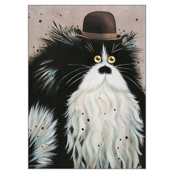 Kim Haskins Charlie Cat Greetings Card