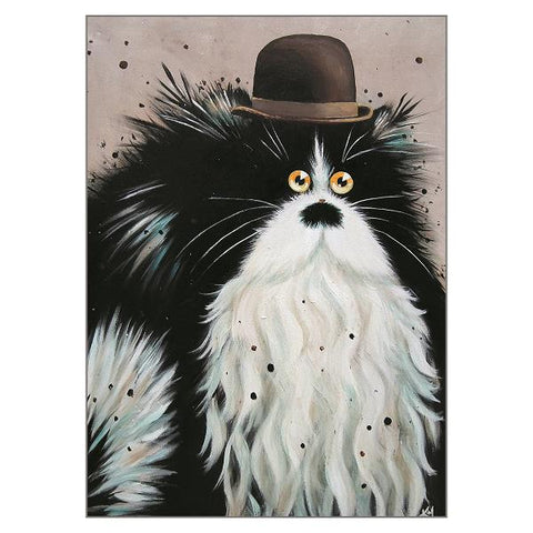 Kim Haskins Cat Greetings Card - Charlie