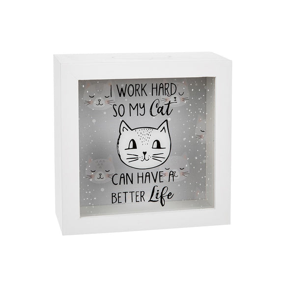 Cats Whiskers Square Fund Money Box