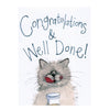 Alex Clark Animal Antics Card - Cat and Cream