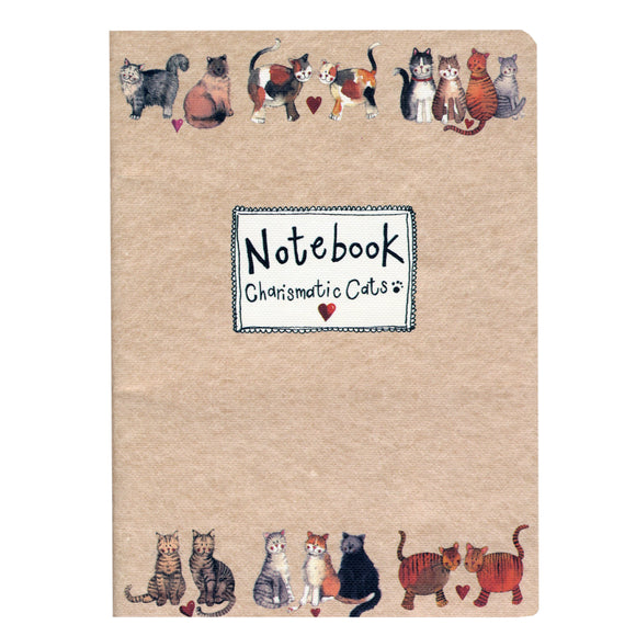 Alex Clark Soft Cover Notebook - Charismatic Cats