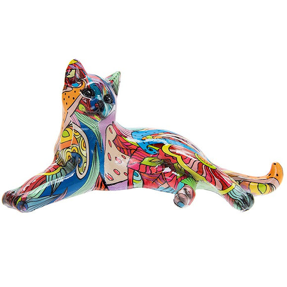 Cat Ornament - Groovy Cat Small Lying