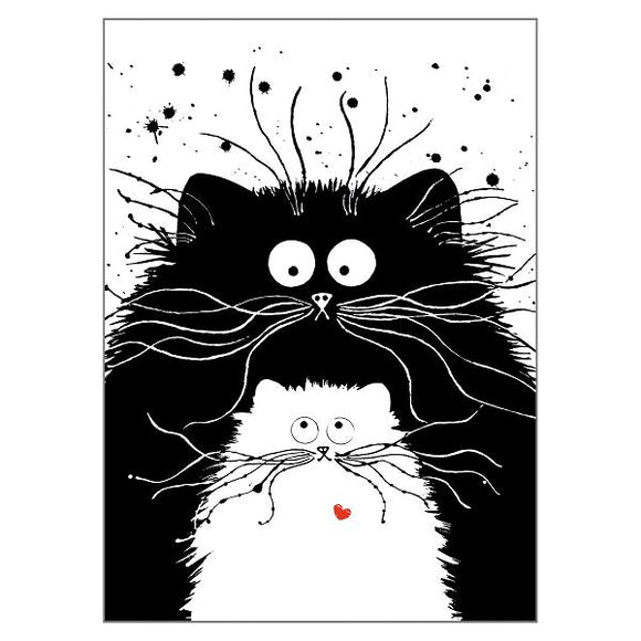 Kim Haskins You're Purrfect Cat Greetings Card
