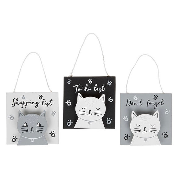 Cats Whiskers Hanging Peg Plaques - 3 Choices