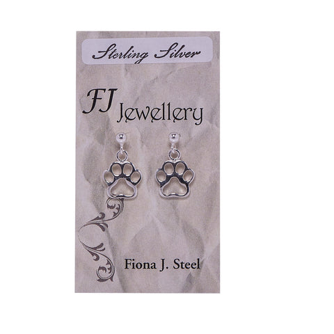 Sterling Silver Cat Paw Earrings