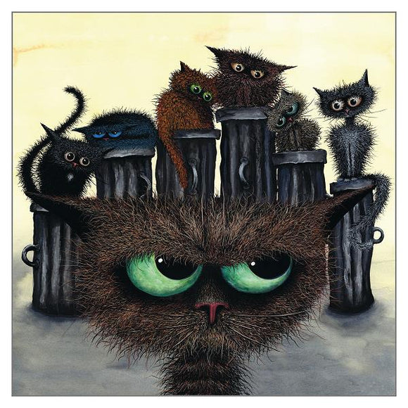Tamsin Lord Cat Greetings Card - The Motley Crew