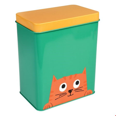 Chester the Cat Pet Food Storage Tin