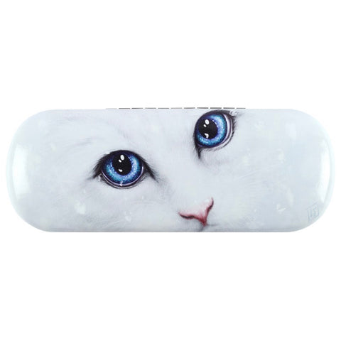 Winter Cat Glasses Case by Linda Jones