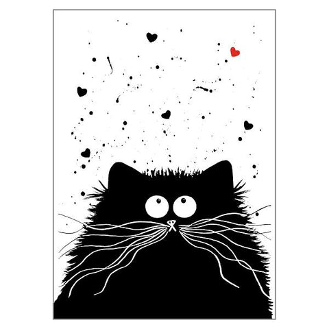 Kim Haskins Cat Greetings Card - Loving Feline